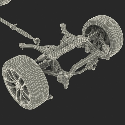 Sedan Chassis. Render 57