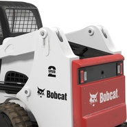 Compact Tracked Loader Bobcat With Blade Rigged. Preview 28