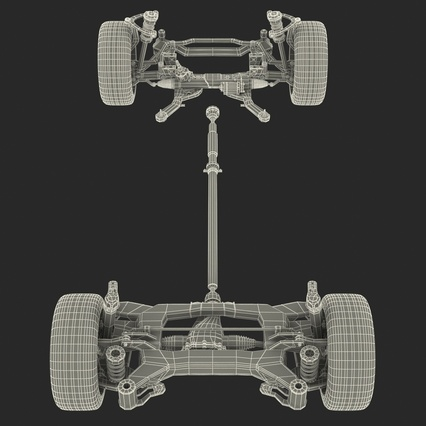 Sedan Chassis. Render 52