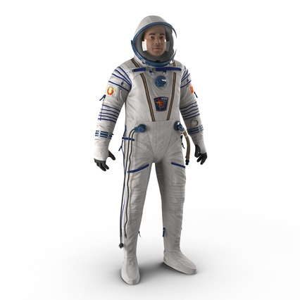 Russian Astronaut Wearing Space Suit Sokol KV2 Rigged for Maya. Render 5