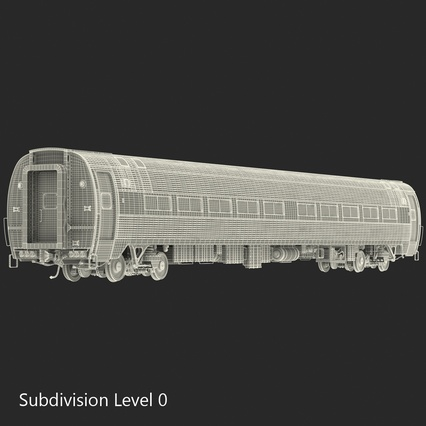 Railroad Amtrak Passenger Car 2. Render 42