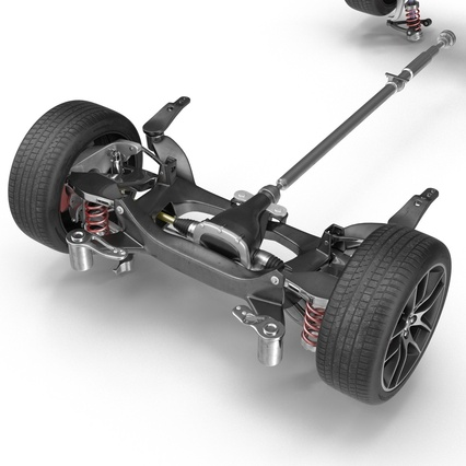 Sedan Chassis. Render 19