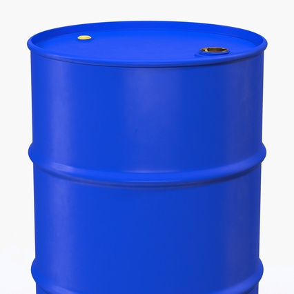 Oil Drum 200l Blue. Render 9
