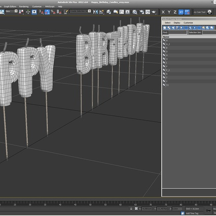 Happy Birthday Candles. Render 13