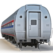 Railroad Amtrak Passenger Car 2. Preview 5