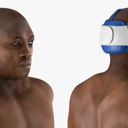 African American Boxer Rigged for Cinema 4D. Preview 20