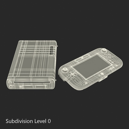 Nintendo Wii U Set White. Render 48