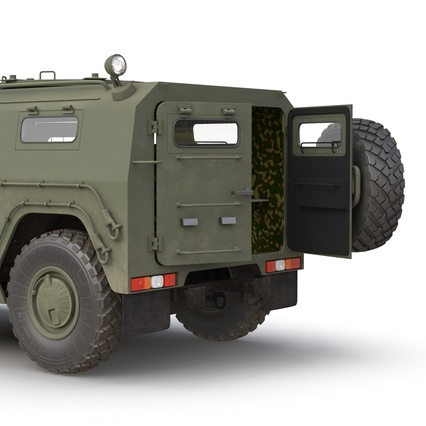 Russian Mobility Vehicle GAZ Tigr M Rigged. Render 32