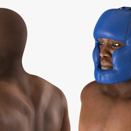 African American Boxer Rigged for Cinema 4D. Preview 21