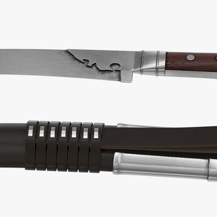 Turkish Yatagan Sword with Sheath. Render 8