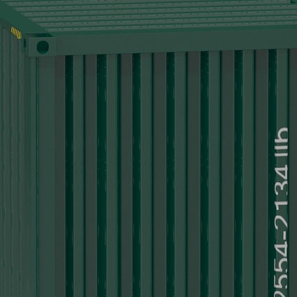 40 ft High Cube Container Green. Render 27