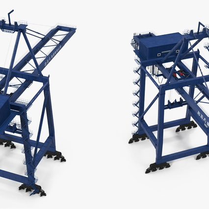 Container Crane Blue. Render 10