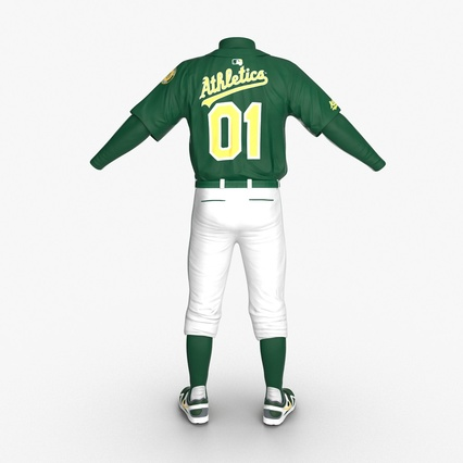 Baseball Player Outfit Athletics 3. Render 7
