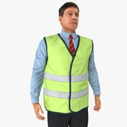 Construction Architect in Yellow Safety Jacket Standing Pose. Preview 2