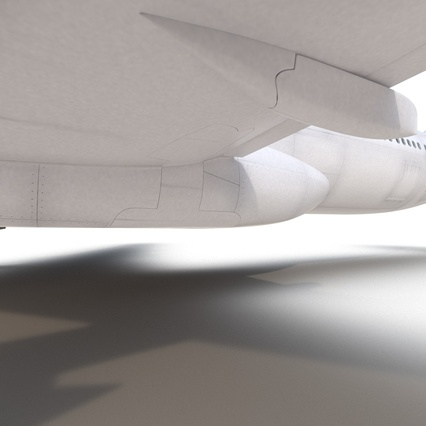 Jet Airliner Airbus A330-300 Emirates Rigged. Render 49