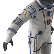 Russian Space Suit Sokol KV2 Rigged. Preview 45