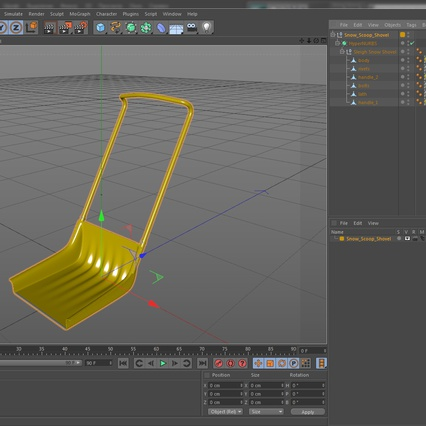 Snow Scoop Shovel. Render 12