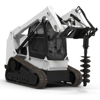 Compact Tracked Loader with Auger. Render 6