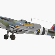 Royal Air Force Fighter Supermarine Spitfire LF Mk IX Rigged. Preview 3