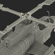 Attack Helicopter Bell AH 1Z Viper Rigged. Preview 118