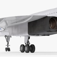 Concorde Supersonic Passenger Jet Airliner British Airways Rigged. Preview 18