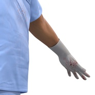 Male Surgeon Asian Rigged with Blood 2 for Cinema 4D. Preview 31