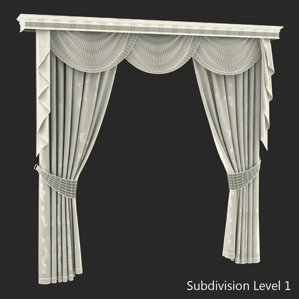 Curtains Collection. Render 65