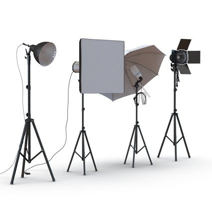 Photo Studio Lamps Collection. Render 9