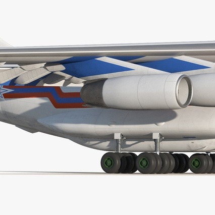 Ilyushin Il-76 Emergency Russian Air Force Rigged. Render 17
