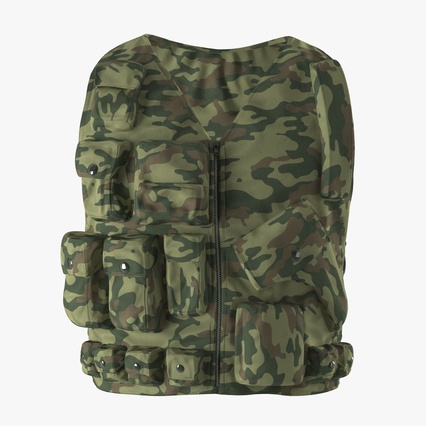 Military Camouflage Vest. Render 3