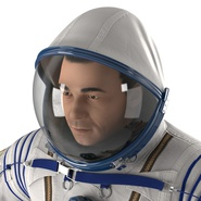 Russian Astronaut Wearing Space Suit Sokol KV2 Rigged for Maya. Preview 29