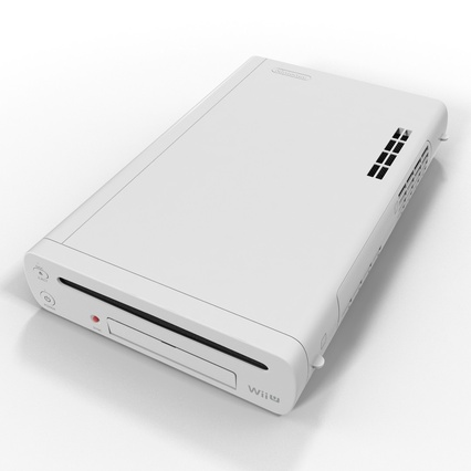 Nintendo Wii U Set White. Render 25