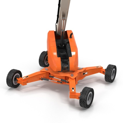 Telescopic Boom Lift Generic 4 Pose 2. Render 24
