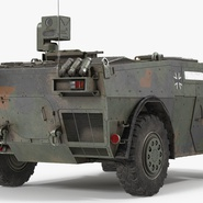 Fennek German Reconnaissance Vehicle Rigged. Preview 7