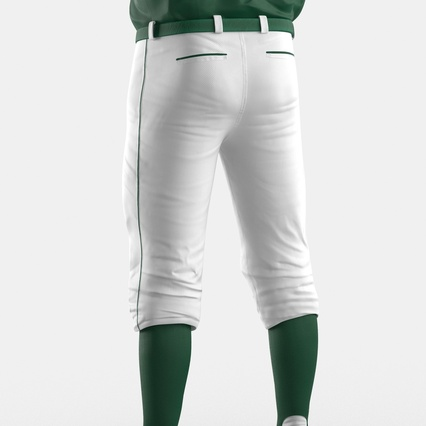 Baseball Player Outfit Athletics 3. Render 25