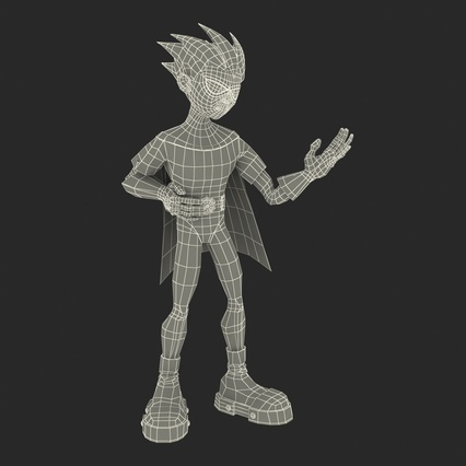 Robin Cartoon Character Rigged for Maya. Render 37