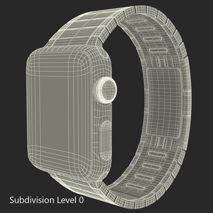 Apple Watch 38mm Link Bracelet Dark Space 2. Render 30