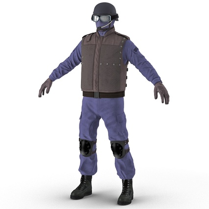 SWAT Uniform. Render 4