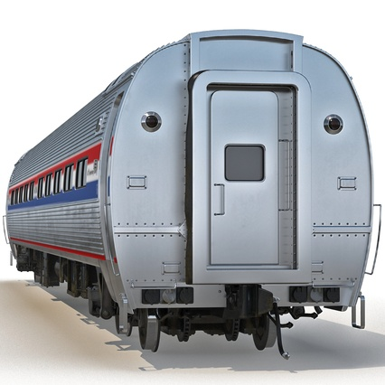 Railroad Amtrak Passenger Car 2. Render 5