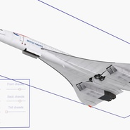 Concorde Supersonic Passenger Jet Airliner British Airways Rigged. Preview 20
