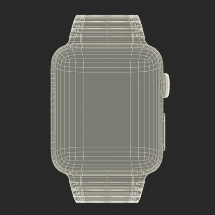 Apple Watch 38mm Link Bracelet Dark Space 2. Render 38