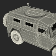 Russian Mobility Vehicle GAZ Tigr M Rigged. Preview 85