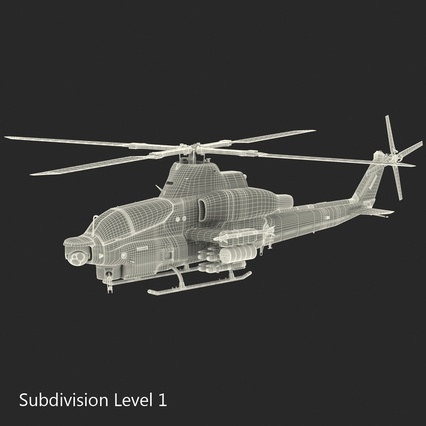 Attack Helicopter Bell AH 1Z Viper Rigged. Render 86