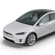 Tesla Model X Rigged. Preview 33