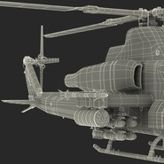 Attack Helicopter Bell AH 1Z Viper Rigged. Preview 107