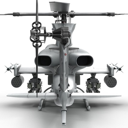 Attack Helicopter Bell AH 1Z Viper Rigged. Render 40
