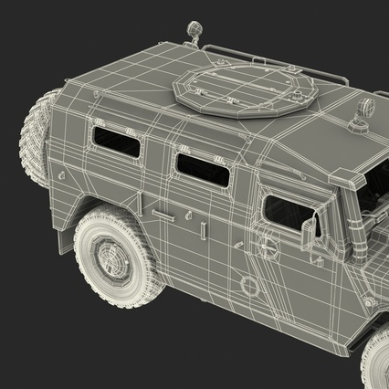 Russian Mobility Vehicle GAZ Tigr M Rigged. Render 85