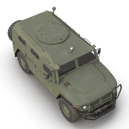 Russian Mobility Vehicle GAZ Tigr M Rigged. Render 21