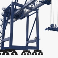 Container Crane Blue. Preview 14