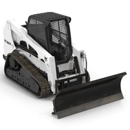 Compact Tracked Loader Bobcat With Blade. Preview 7